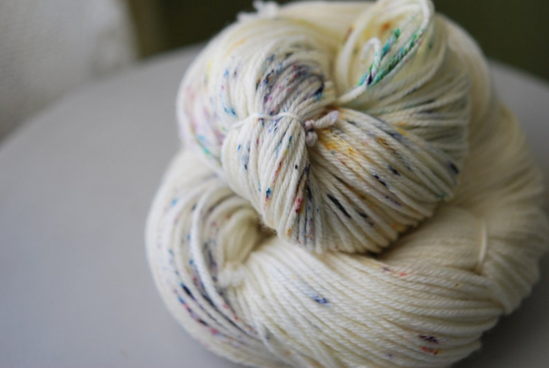 Hand Dyed DK Weight Yarn  Playing Marbles image 0