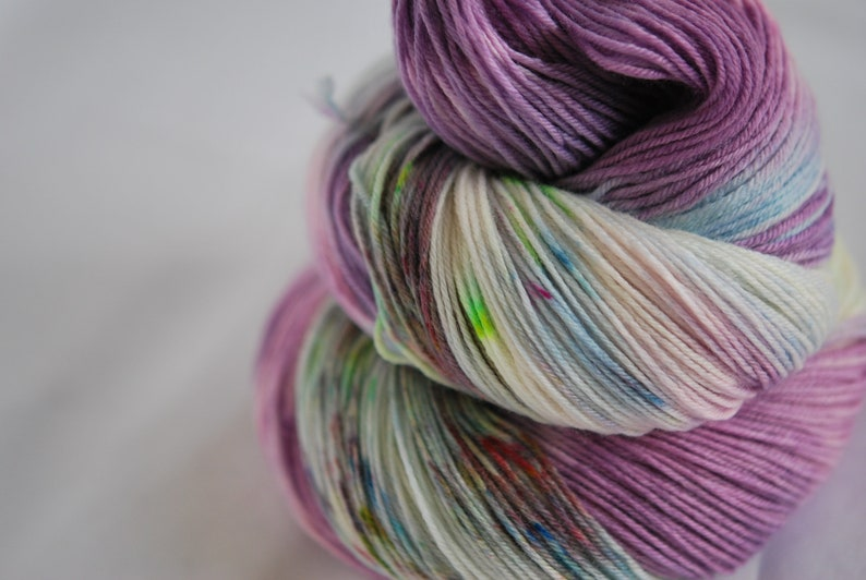 Hand Dyed Yarn  Witch's Potion image 0