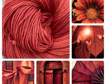 Hand Dyed Yarn - Paprika (Worsted)