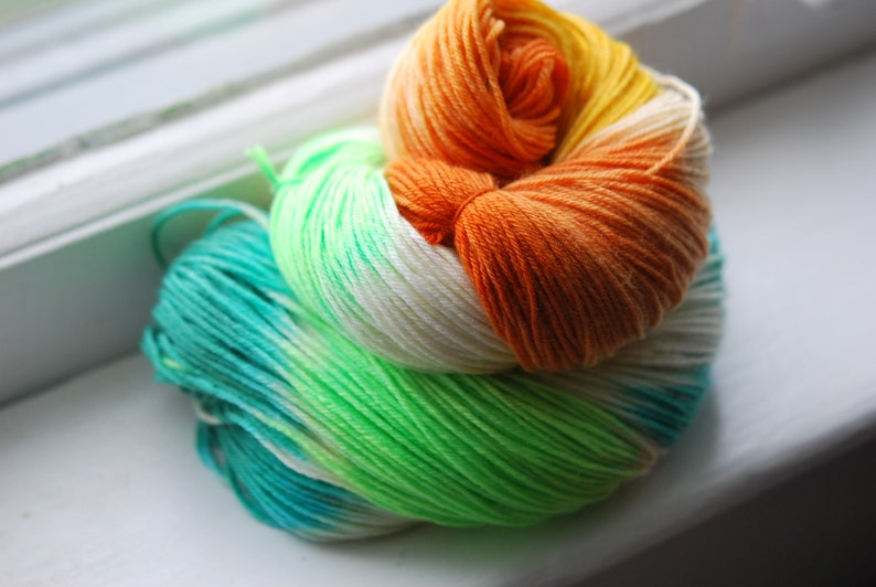 Hand Dyed Yarn  Garden Shoes image 0
