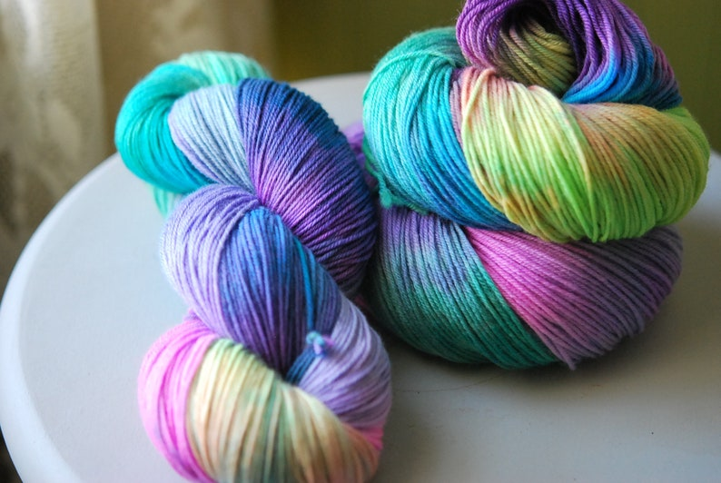 Hand Dyed  Yarn  Flash Party image 0