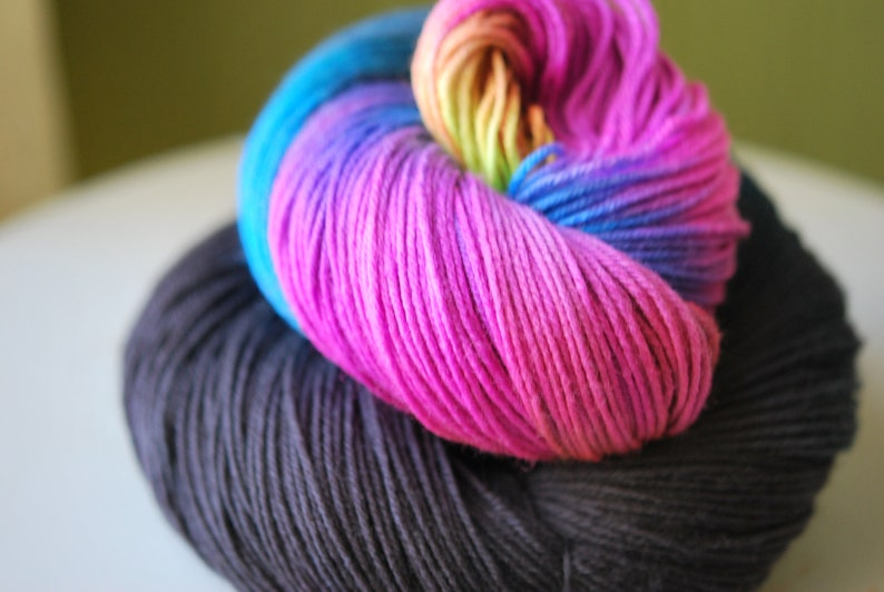 Hand Dyed  Yarn  No Monsters Under My Bed image 0