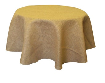 60-Inch Round Jute Burlap Round, Table Cover, Rustic Tablecloth, Hessian Table Cloth, Burlap Table Cloth, Jute Tablecloth for Banquets.