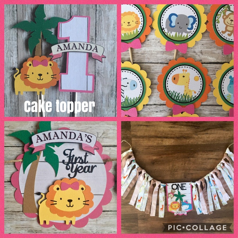 Jungle Safari 1st First Birthday Party Decorations Decor For A