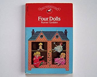Four Dolls by Rumer Godden - Older Reader Children's Book - Impunity Jane, The Fairy Doll, Candy Floss, Story of Holly and Ivy
