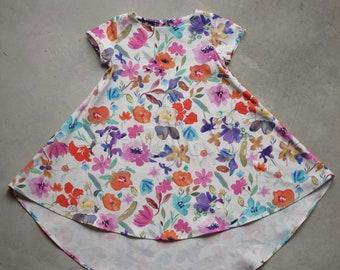 Asymmetrical flower dress