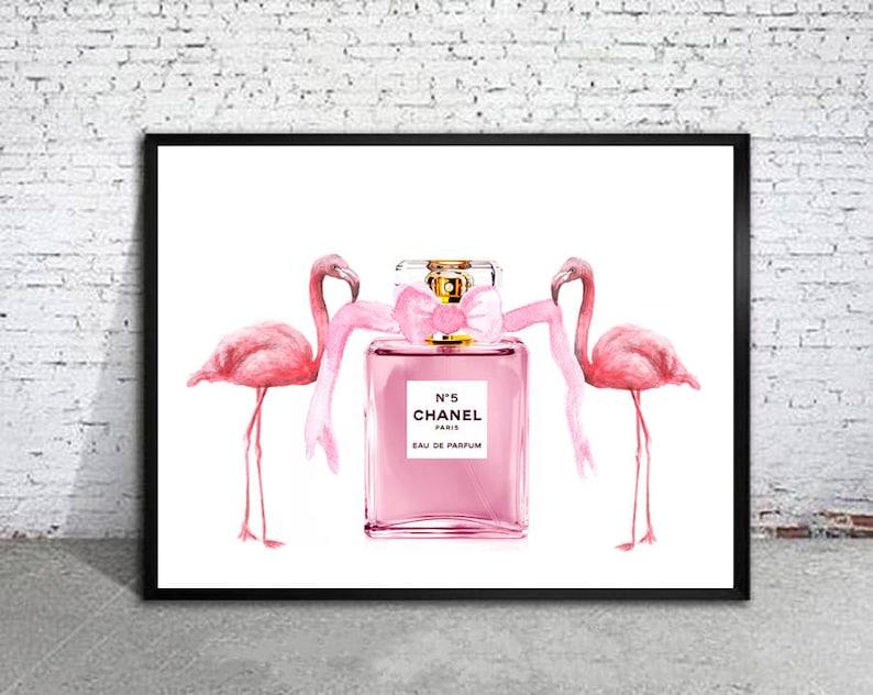 Fenicottero rosa arte stampa di fenicotteri rosa profumo  dac32cf1ed92