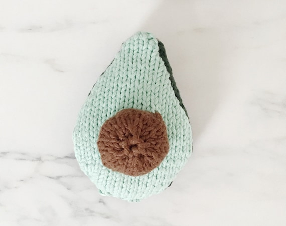 Knitted avocado, Doudou fruit and vegetables for children