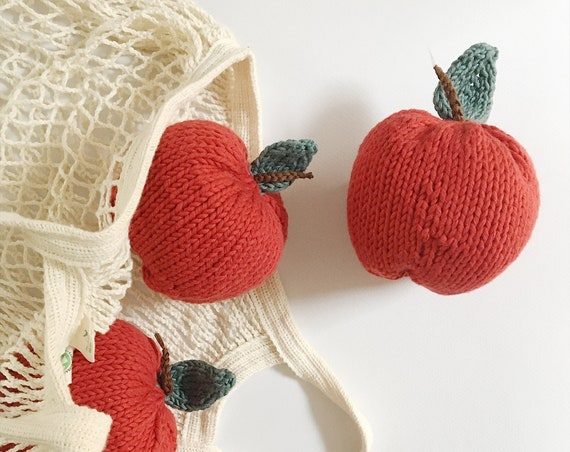 Red Apple knit toy