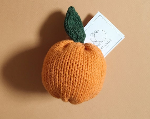 Orange knit, fruits and vegetables knit for children, imitation toy for seating and market set