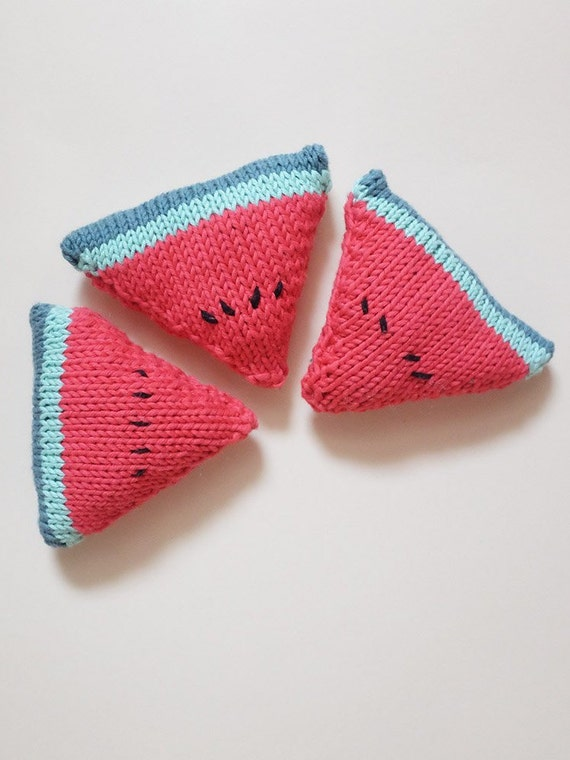 Watermelon knit imitation toy, play food, fruit knit