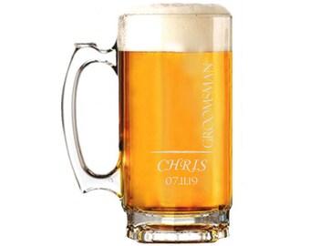 etched beer mug etsy
