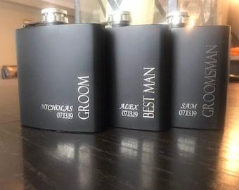 Groomsmen Gifts - Gift for Groomsmen - Groomsman Gift - Groomsmen Flasks - Personalized Flasks for Groomsmen - Flasks for Groomsman