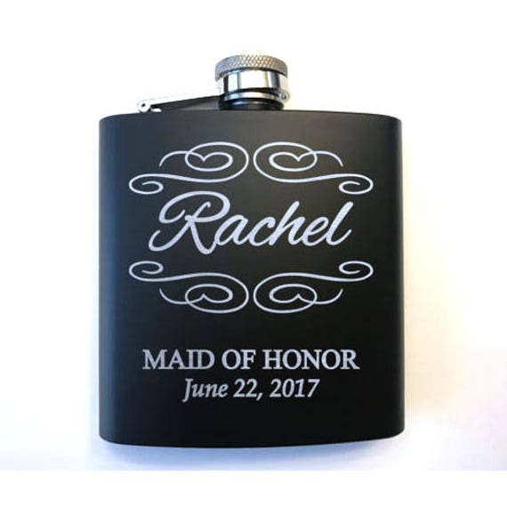 Personalized Bridal Party Flasks Bridal Party Gifts Flask
