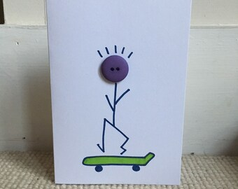 Skateboard Dude Greetings Card