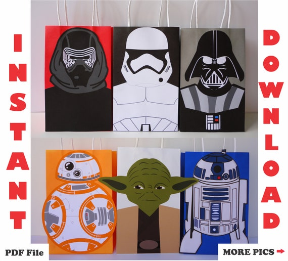 30 PCS STAR WARS GOODIE GIFT BAGS STORM TROOPERS PARTY FAVORS TREAT BIRTHDAY BAG