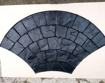 Polyurethane Stamp Concrete Floppy Mat Stamped Cement Texture Mold Vertical DIY