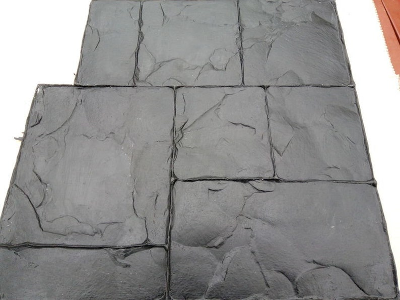Concrete Stamp N2 Polyurethane Floppy Mat Stamped Mould Texture Mold Vertical DIY