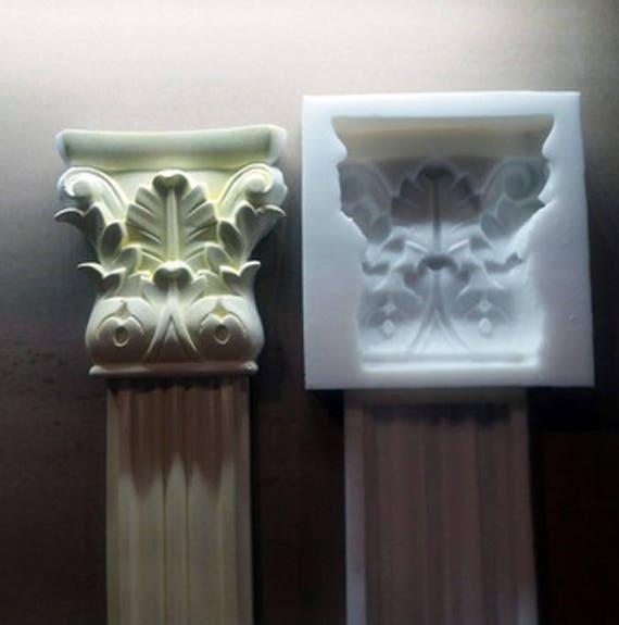 caoutchouc de silicone pour gypse moule de corniche en pl tre etsy. Black Bedroom Furniture Sets. Home Design Ideas