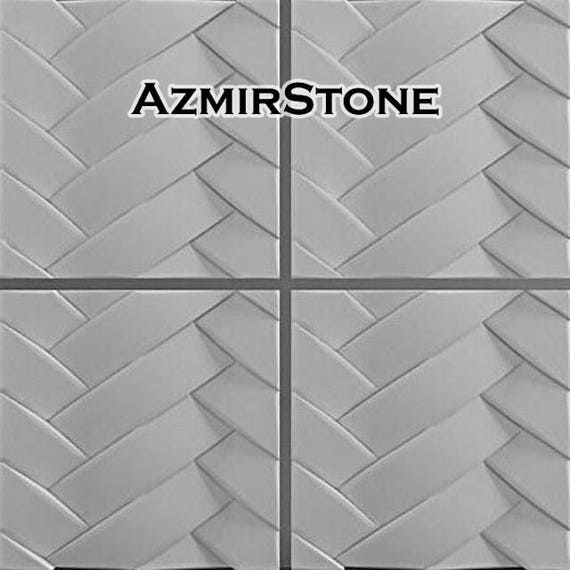 3d panel Plastic mold for gypsum castings Abstract Wall decor for Hall Living room Office Tile mold Concrete mold B