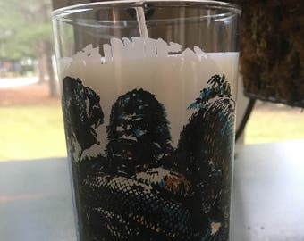 Upcycled King Kong Candle Soy Wax Strawberry Rhubarb Scent VEGAN