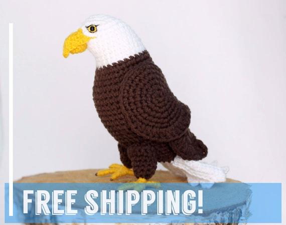 Crochet Bald Eagle Stuffed Animal Plushies Bird Amigurumi Toy Etsy