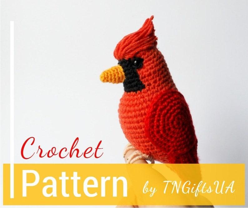 77420ae1130 Crochet Cardinal Red bird PATTERN Tutorial PDF Christmas tree