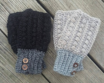 Women's hand warmers-fingerless gloves- texting mitts-texting gloves-tan, grey, black-gifts for her