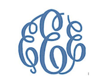 Classic Monogram Font PES