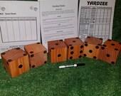 Yahtzee (Yardzee Farkle) Game with Big Dice