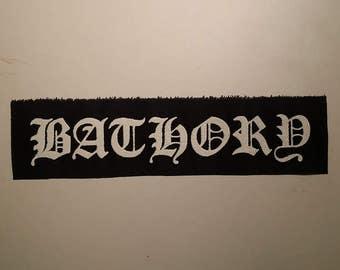 Bathory logo LONG patch black metal
