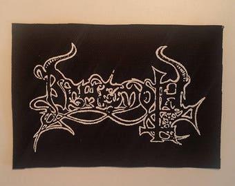 Behemoth old logo patch black metal