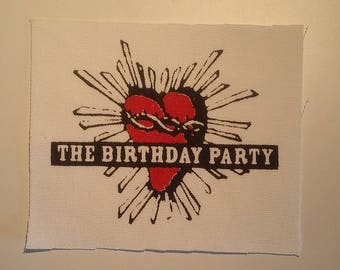 The birthday party patch goth rock deathrock post punk batcave Nick Cave