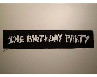 The birthday party LONG patch white logo goth rock deathrock post punk batcave Nick Cave