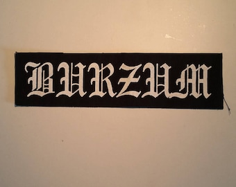 Burzum logo LONG patch black metal