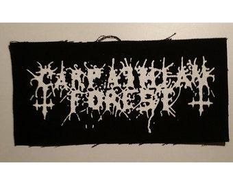 Carpathian forest old logo patch black metal
