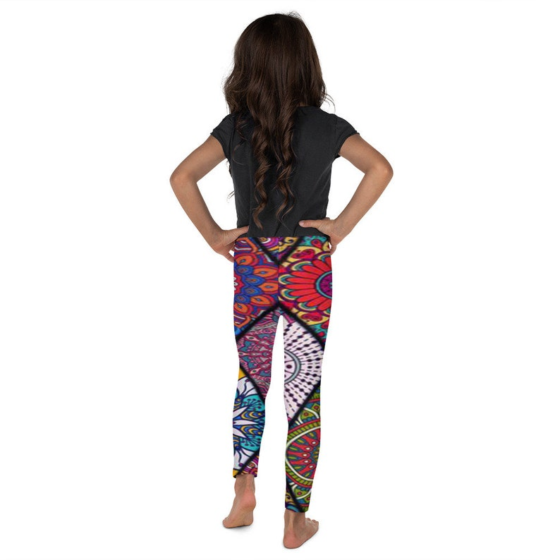 5de031a4767487 Trendy Triangle Kaleidoscope Leggings Custom Design Toddler | Etsy