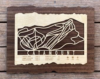 Catamount Ski Decor Map Art Gift Skiing Snowboarding - Ski Art Skiing Wall Art for your Ski House Ski Lodge