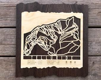 Telluride Ski Decor Map Art Gift for Skiers & Snowboarders - Telluride Ski Art-Ski Décor-Skiing Wall Art for your Colorado Ski House