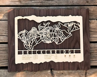 Breckenridge Ski Decor Ski Gifts Snowboard Skiing - Colorado Ski Art Ski Housewarming Gift for Colorado Ski House