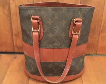 SALE! Vintage LOUIS VUITTON Monogram Small Bucket Bag