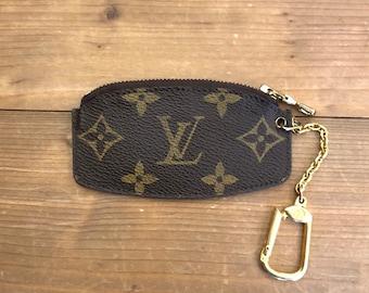 bc9cbc36c658 Authentic LOUIS VUITTON Monogram Coin Pouch Key Chain