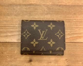 3453b95b116b Authentic LOUIS VUITTON Monogram Business Card Holder Small Wallet