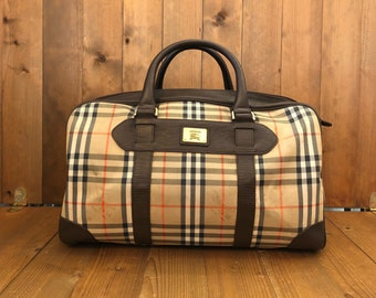 85de2b245fc1 Authentic BURBERRYS Haymarket Boston Duffle Bag 45