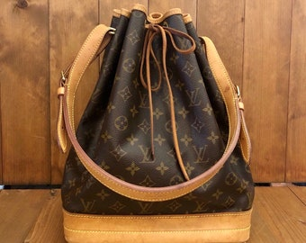 Authentic LOUIS VUITTON Monogram Large Noe Shoulder Bag ad0352b43389a