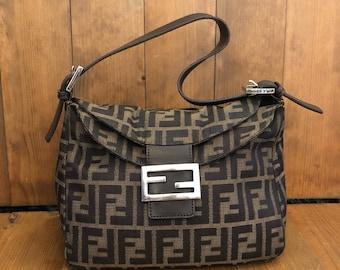 1d082ce385 Authentic FENDI Zucca Brown Jacquard Tote Bag