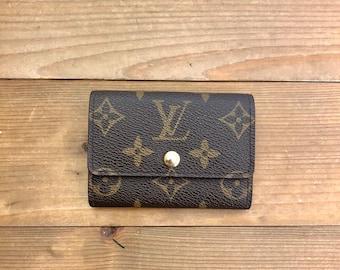 d898dc8ea39d Authentic LOUIS VUITTON Monogram Card Holder Small Wallet