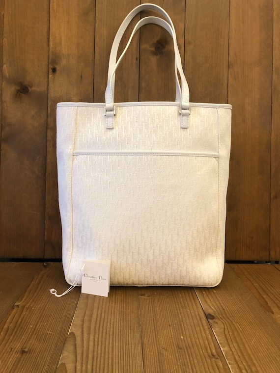 Authentic CHRISTIAN DIOR White Trotter Jacquard To