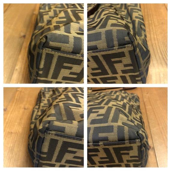 Authentic FENDI Brown Zucca Tote Bag (Zip Top) - image 4
