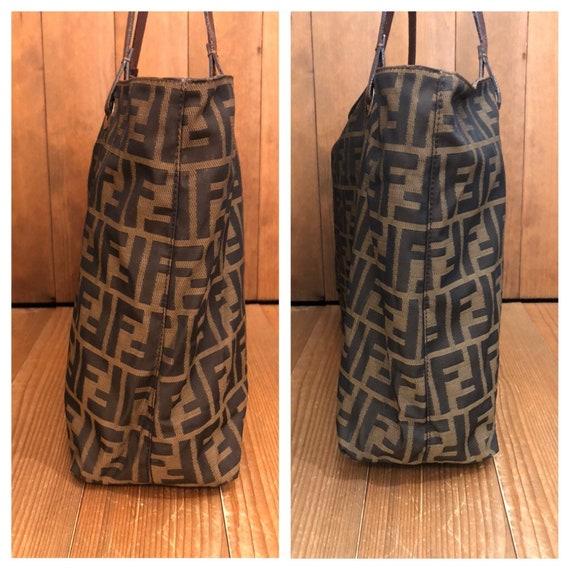 Authentic FENDI Brown Zucca Tote Bag (Zip Top) - image 3